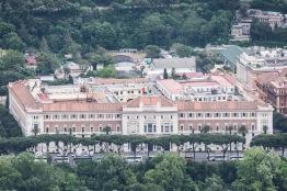 Roma, veduta aerea dall'elicottero del palazzo della Marina Militare 2014-04-27 © Massimo Sestini