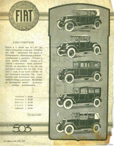 Fig. 14. FIAT 503 - Caratteristiche