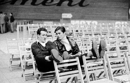 Alain Delon ed il pugile Marco Chionna